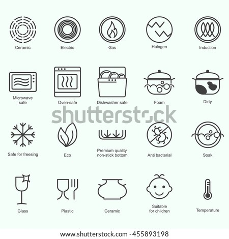 Symbols Food Grade Metal Indicate Properties Stock Photo Photo
