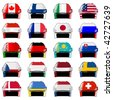 symbols of hockey nations - stock vector