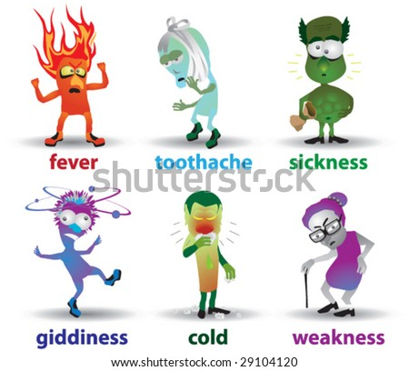 symptoms of disease - stock vector