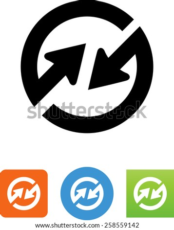 Synchronize symbol for download. Vector icons for your print project or Web site.  - stock vector