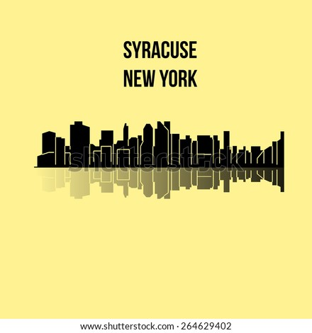 Syracuse, New York - stock vector