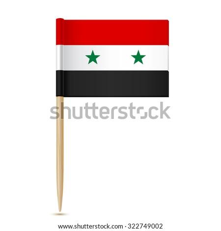 Syria flag. Flag toothpick. - stock vector
