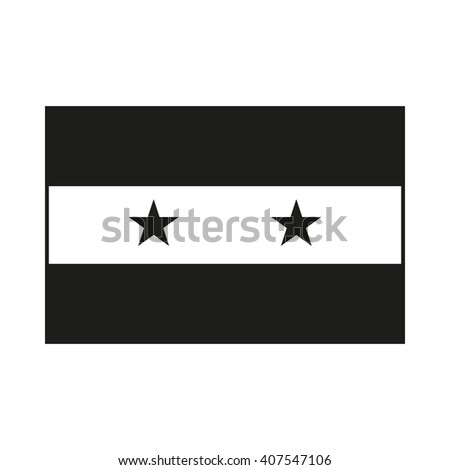 Syria flag Icon Created For Mobile, Web, Decor, Print Products, Applications. Black icon isolated on white background. Vector illustration. - stock vector