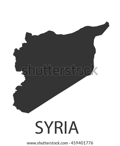 Syria map icon. Vector illustration. - stock vector