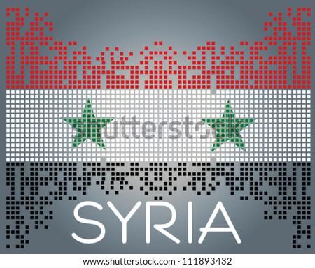 Syrian flag, vector - stock vector