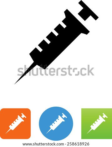 Syringe symbol for download. Vector icons for video, mobile apps, Web sites and print projects.  - stock vector