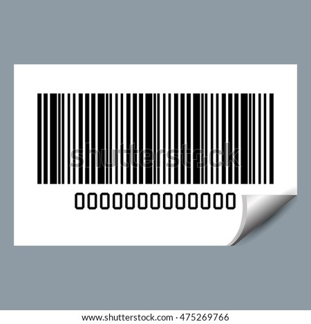 system bar code id product vector illustration design