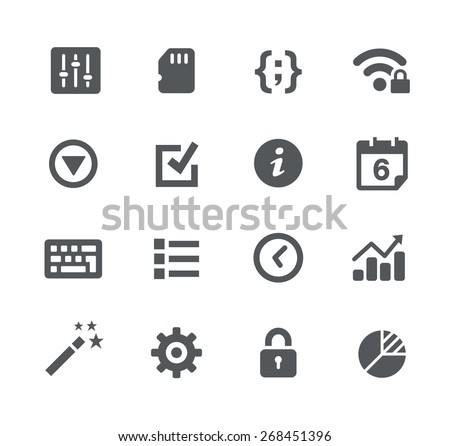 System Settings // Apps Interface - stock vector