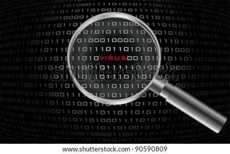 system virus detected , vector - stock vector