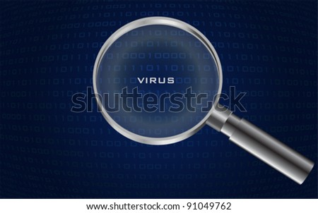 system virus detected , vector - stock vector
