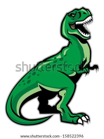 t-rex dinosaur - stock vector