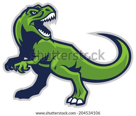t-rex mascot - stock vector