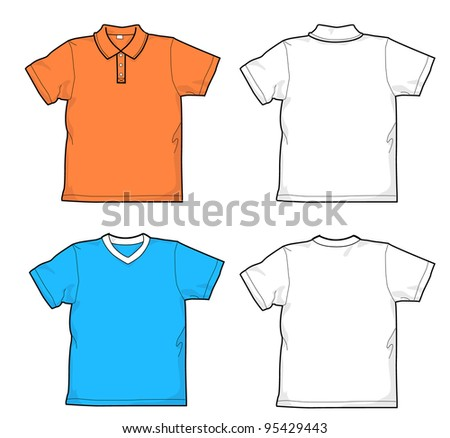 T-shirt and polo-shirt - stock vector