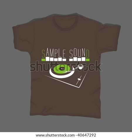 t-shirt design 13 - stock vector