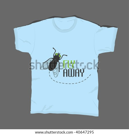 t-shirt design 11 - stock vector