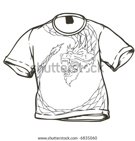 t-shirt design 1 - stock vector