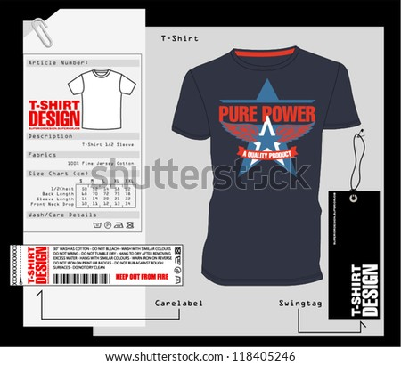 T-Shirt Design / Print Design - stock vector