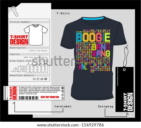 T-Shirt Design / Print Design - stock vector