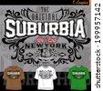t-shirt design, vector graphics, tee graphics - stock vector