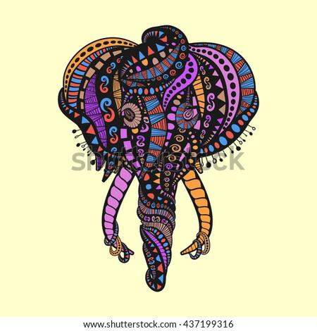 Pink Elephant Stock Vector 137611499 - Shutterstock