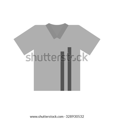 T-shirt, drawing, lines icon vector image. Can also be used for clothes and fashion. Suitable for web apps, mobile apps and print media. - stock vector