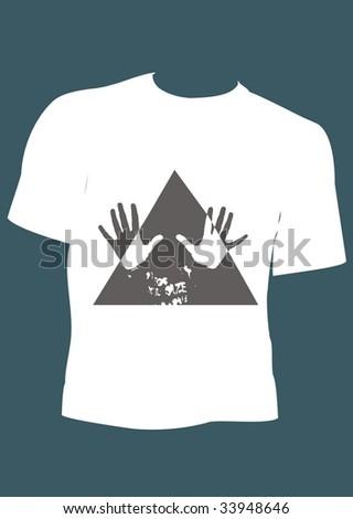 t-shirt for men - stock vector