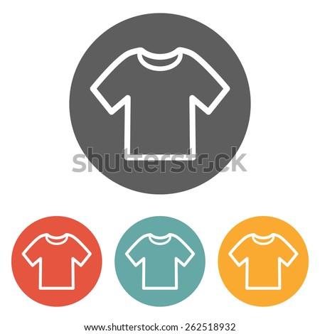 t-shirt icon - stock vector