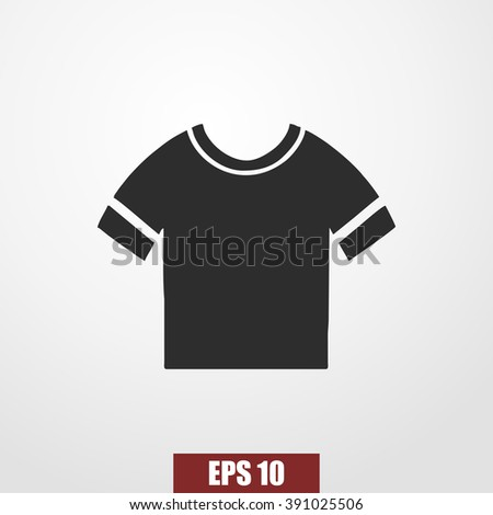 t-shirt icon - stock vector