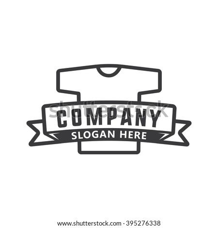 Tshirt logo stock vector 395276338 shutterstock for T shirts for business logo