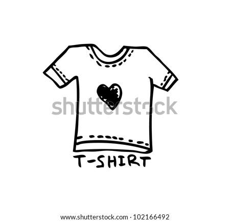t-shirt template - stock vector
