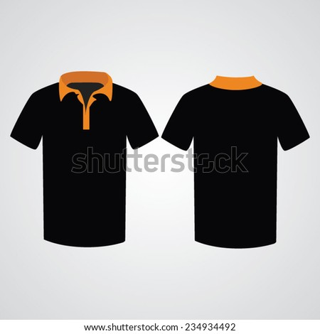 T shirt template. Front and back