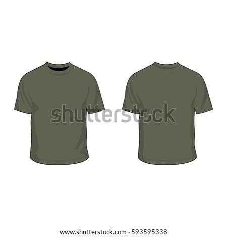 t shirt template military green stock vector 593595338 shutterstock