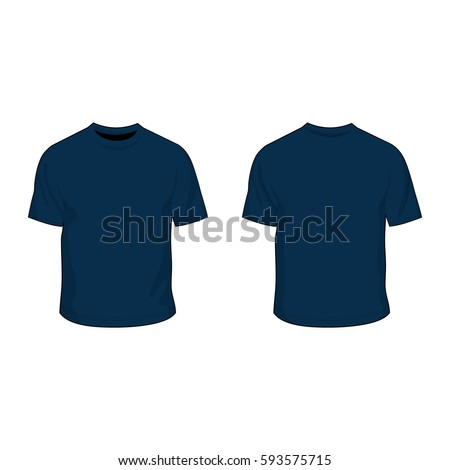 t shirt template navy blue stock vector 593575715