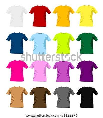 t-shirt templates - stock vector