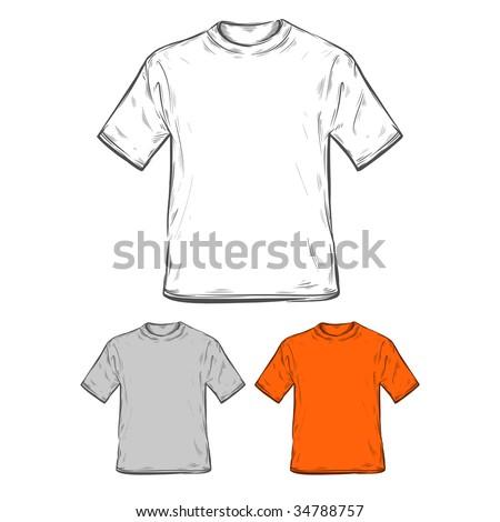 T-shirt templates. Vector illustration. - stock vector