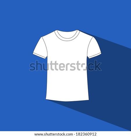 T-shirt vector icon - stock vector
