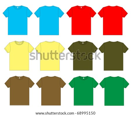 T-shirt vector template - stock vector