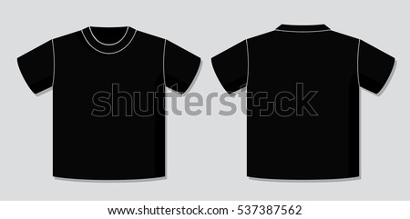 T shirt vector template front back view stock vector royalty free t shirt vector template with front and back view of the unisex blank garment design maxwellsz