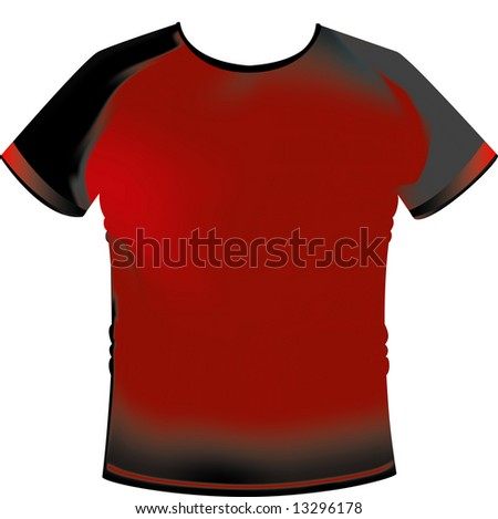 T-Shirt VECTOR with gradient mesh - stock vector