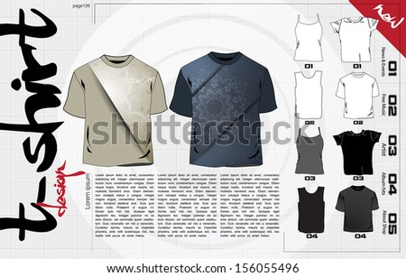 T-shirts design template. Vector - stock vector