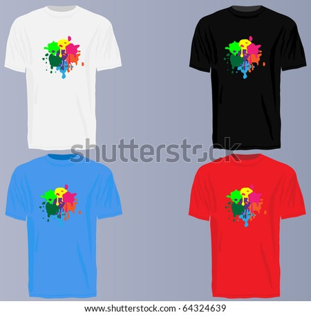 t shirts set - stock vector