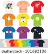 T Shirts Vector Collection. Illustration without Gradients - stock vector