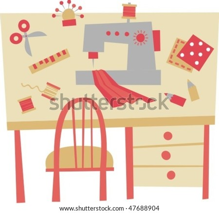 table - stock vector