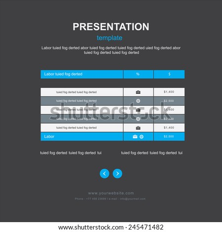 table and infographic design - stock vector
