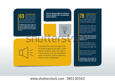 Table, chart, schedule, text banner, tab template. Infographics elements. - stock vector