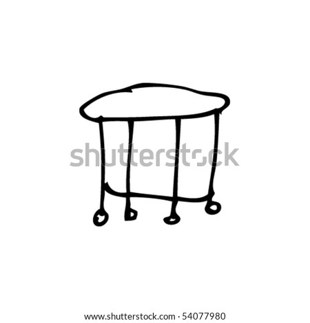 table drawing - stock vector