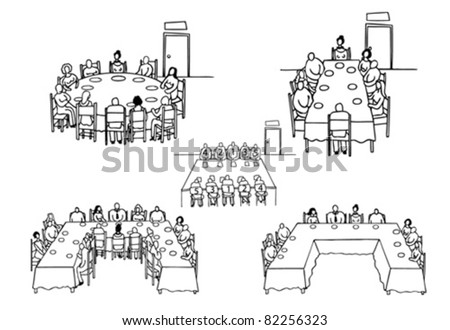 Table etiquette - stock vector