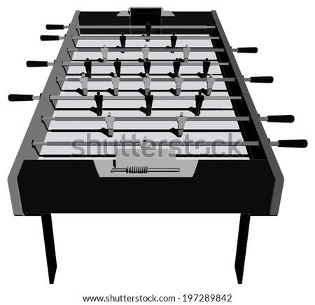 Table Football And Soccer Game Perspective Vector 10 - stock vector