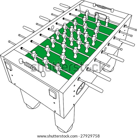 Table Football And Soccer Game Perspective Vector 01 - stock vector
