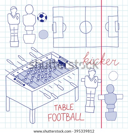 Table football set.  sc 1 st  Shutterstock & Table Football Set Stock Vector 395339812 - Shutterstock